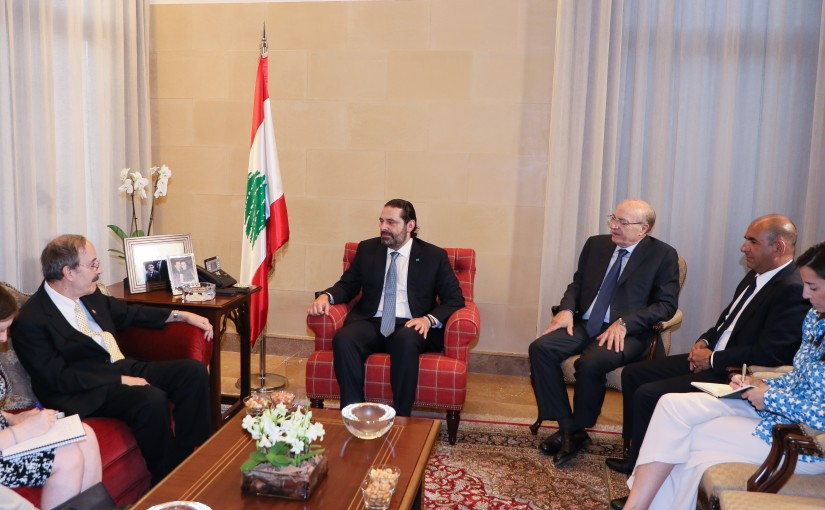 Pr Minister  Saad Hariri meets Chairman of the Foreign Affairs Committee of the US Congress Mp Eliot Engel With Delegation