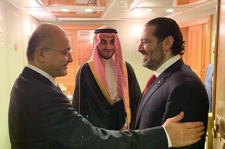 Pr Minister Saad Hariri meets Iraqi President Bourhom Saleh