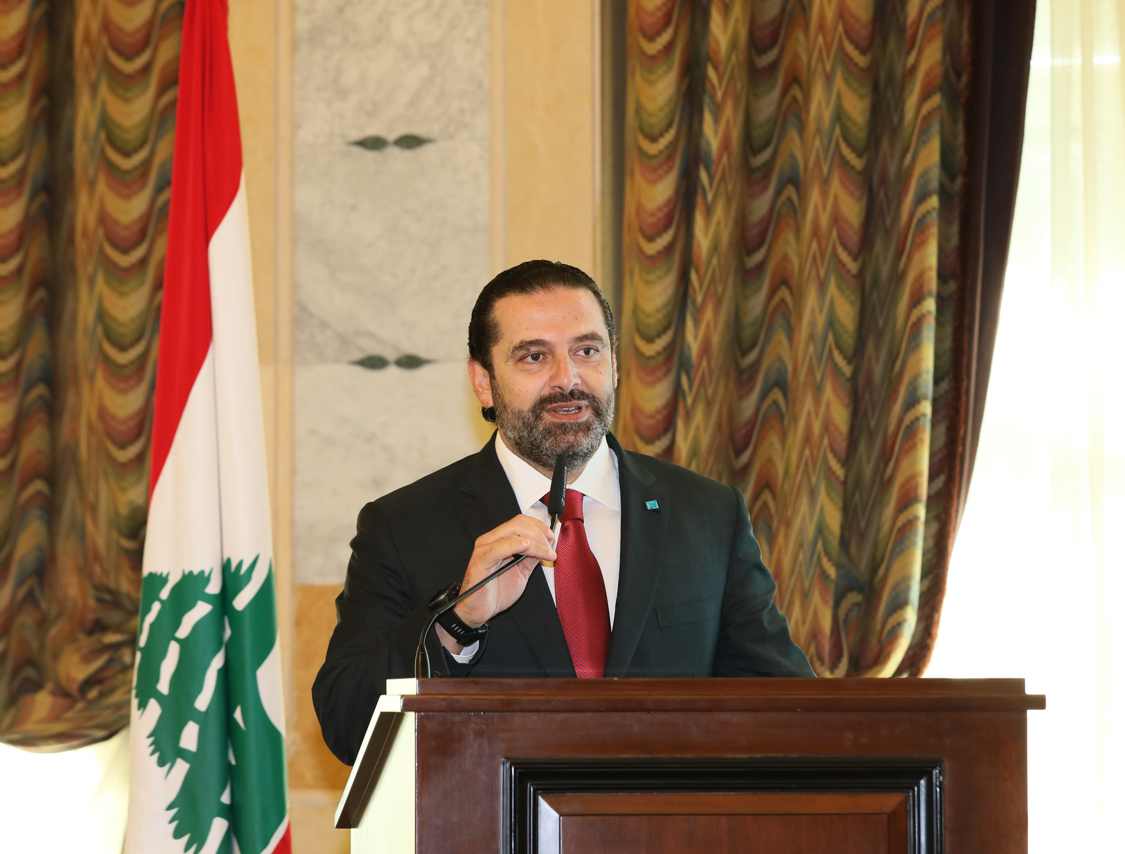 Pr Minister Saad Hariri Attends a Tournement at the Grand Serail 1
