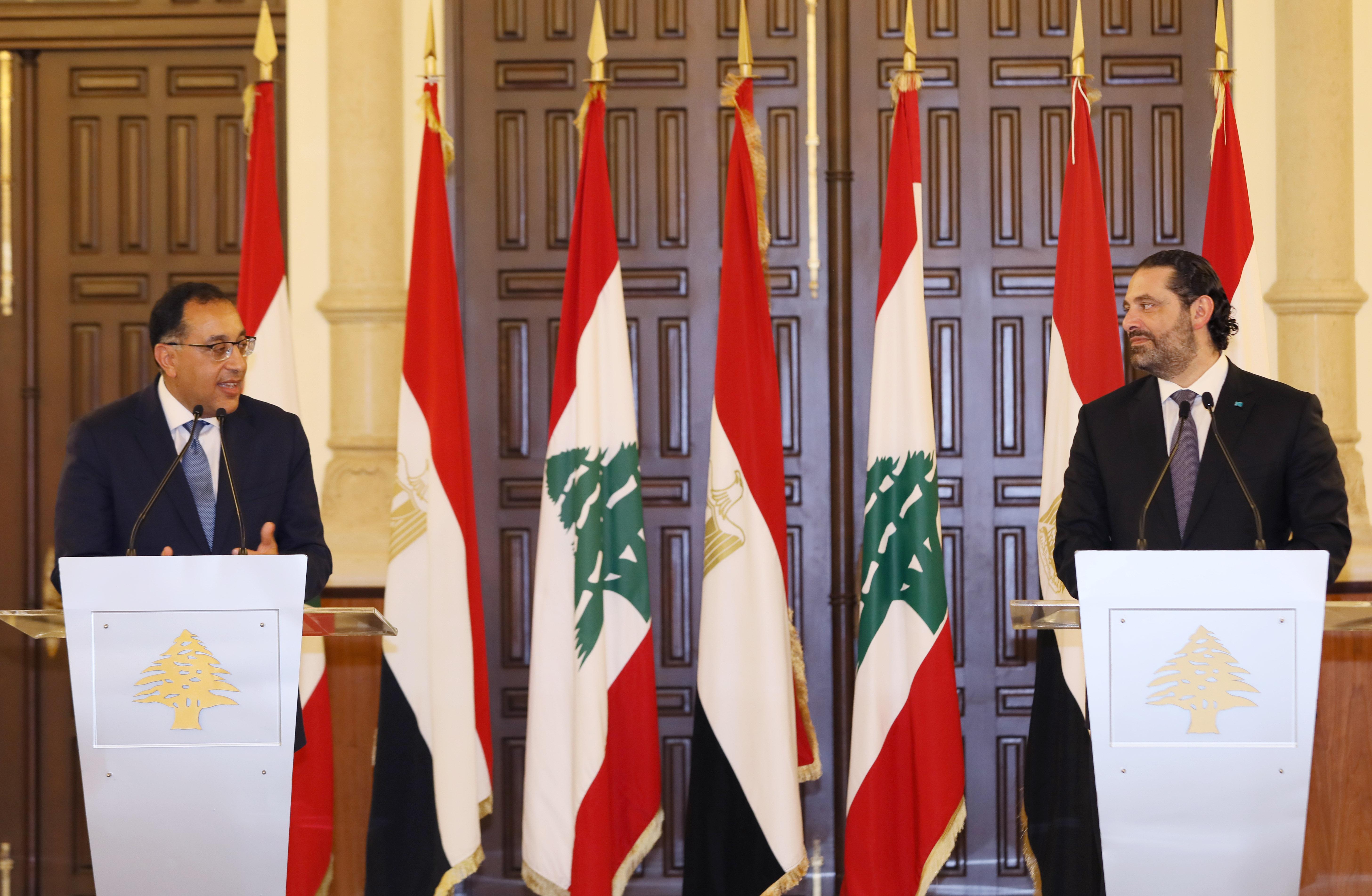 Pr Minister Saad Hariri meets Egyptian Pr Minister 1