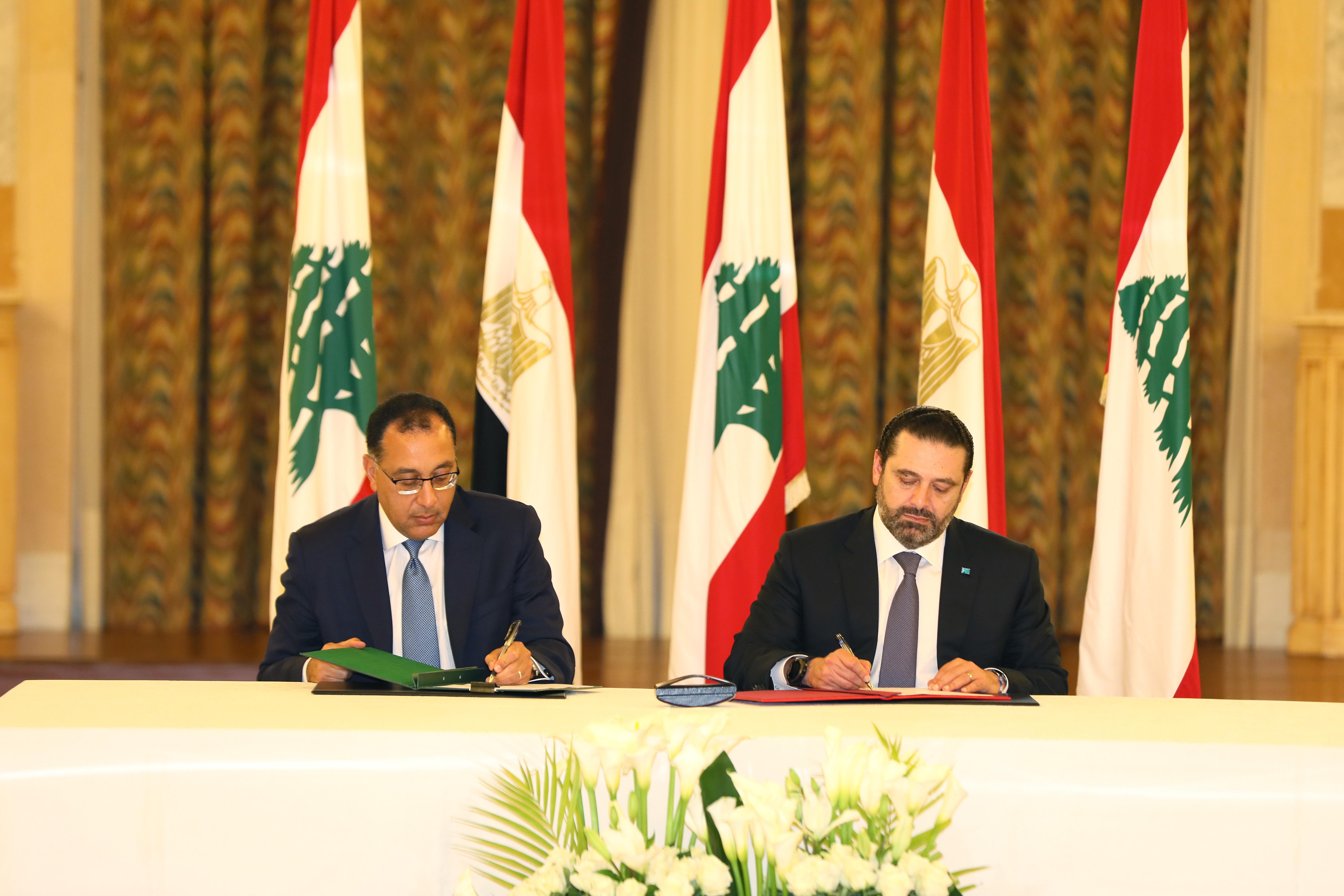 Pr Minister Saad Hariri meets Egyptian Pr Minister 4