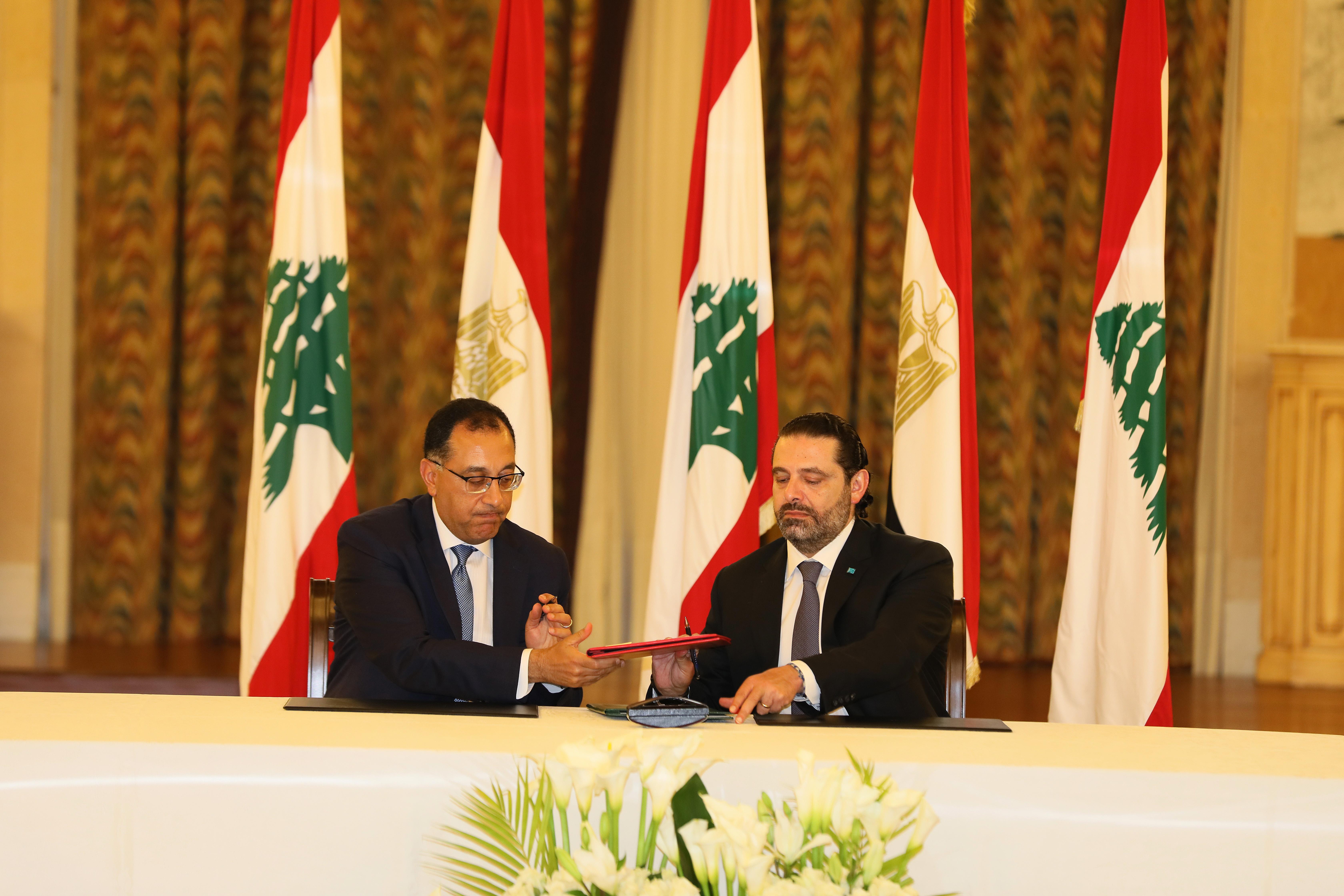 Pr Minister Saad Hariri meets Egyptian Pr Minister 5
