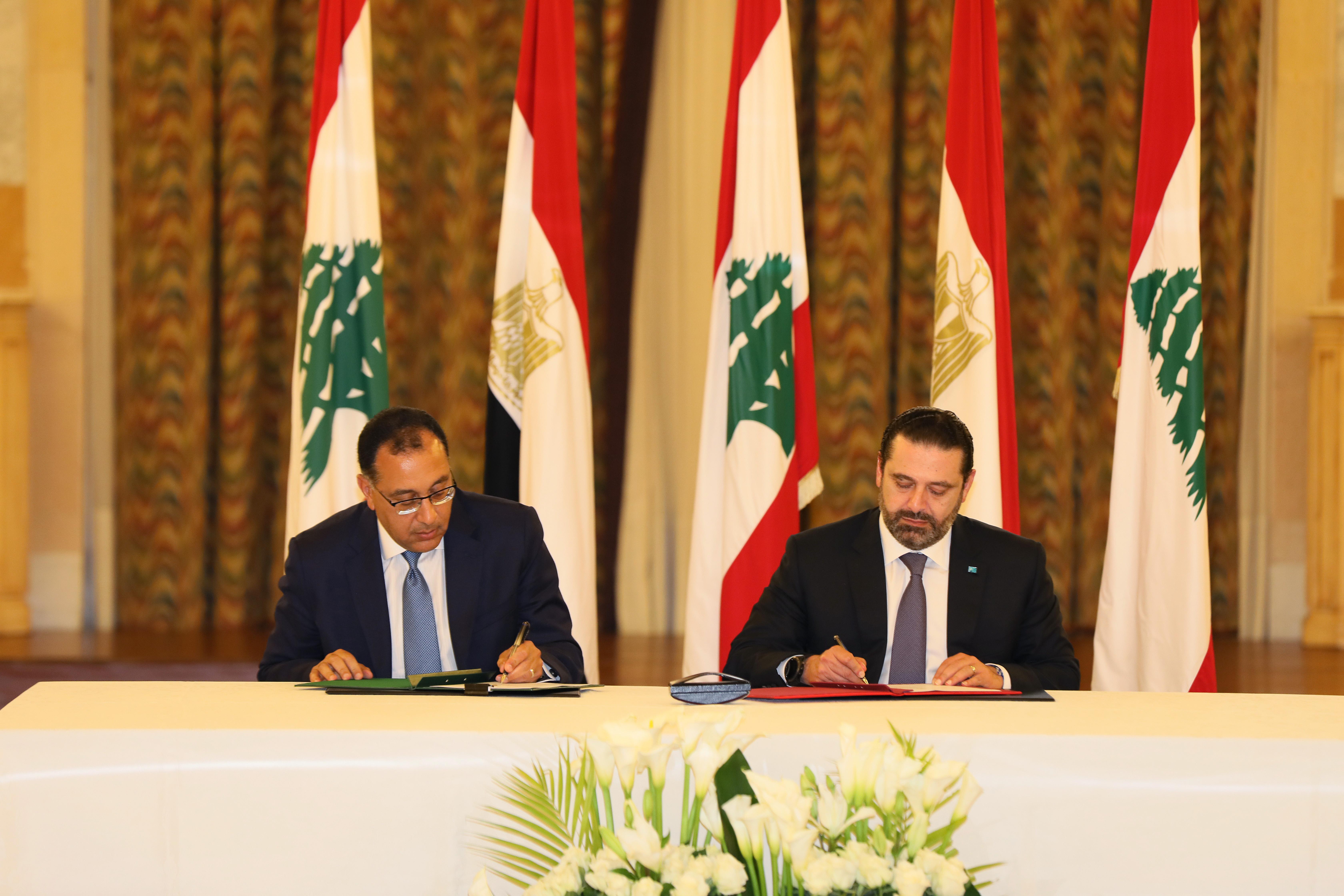 Pr Minister Saad Hariri meets Egyptian Pr Minister 6