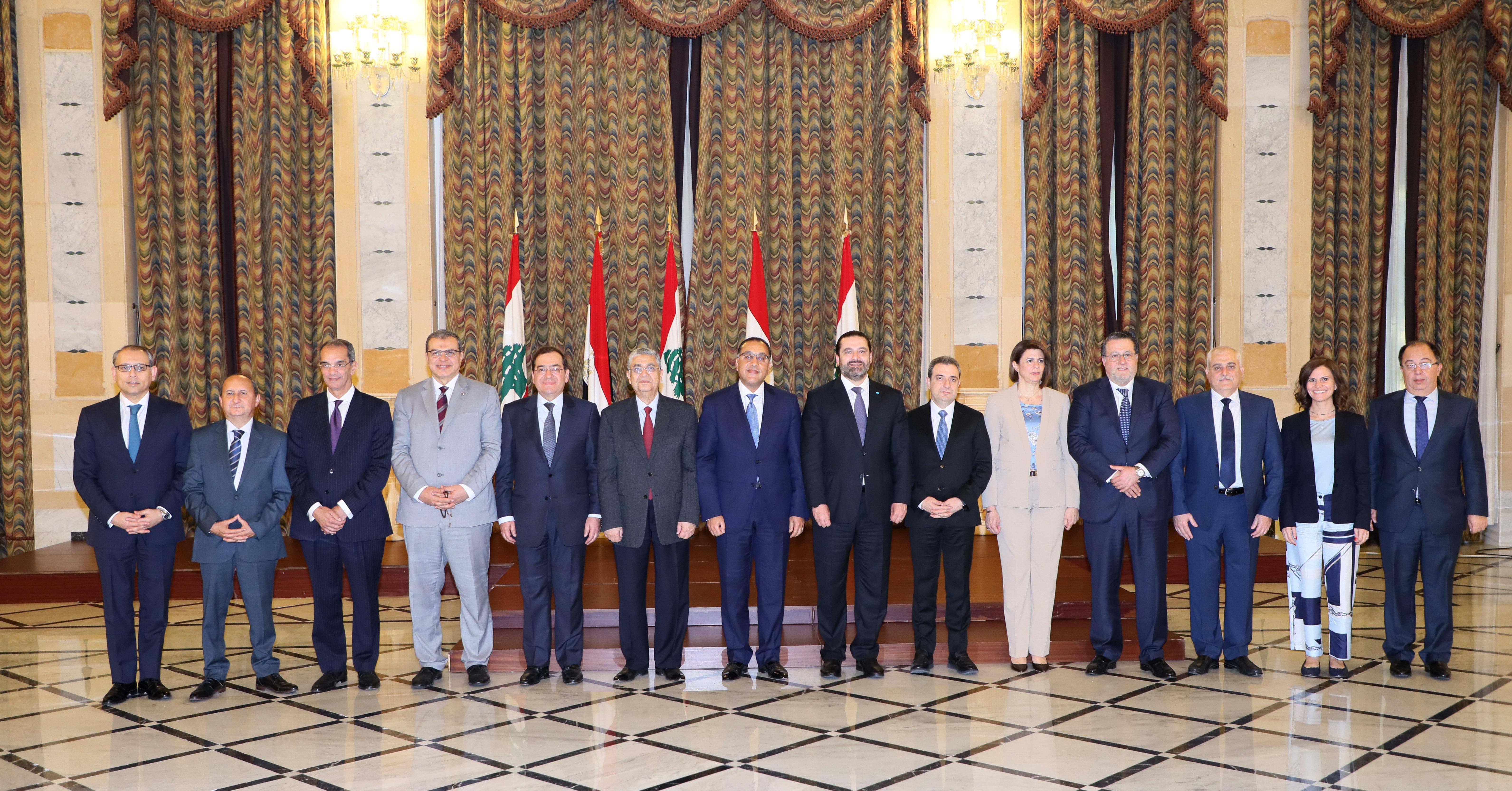 Pr Minister Saad Hariri meets Egyptian Pr Minister