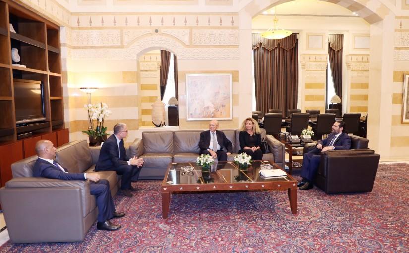Pr Minister Saad Hariri meets Former Minister Bahij Tabara with a Delegation