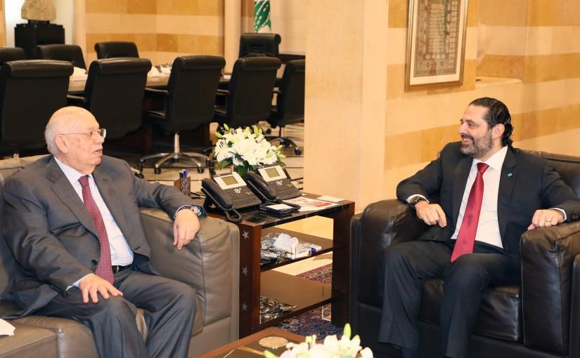 Pr Minister Saad Hariri meets Former Minister Rashid Derbess
