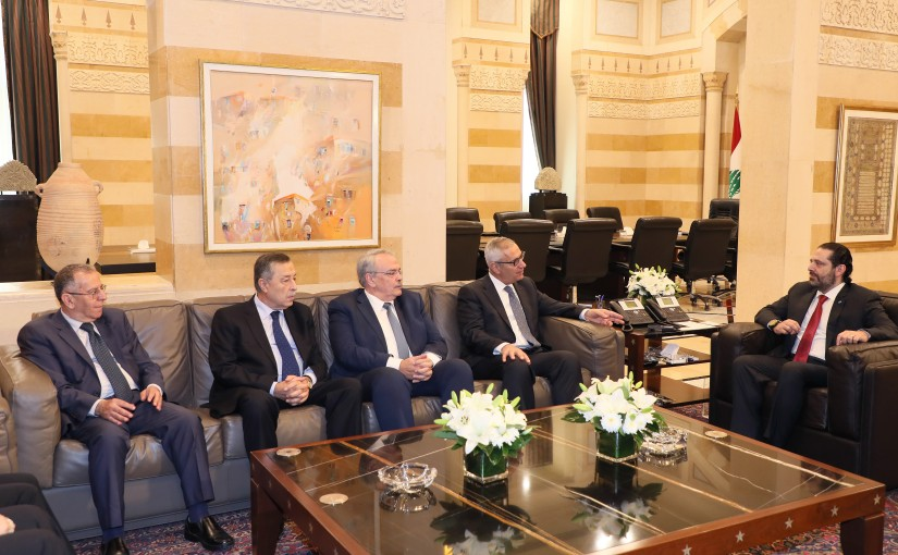 Pr Minister Saad Hariri meets Judge Jean Fahed with a Delegation