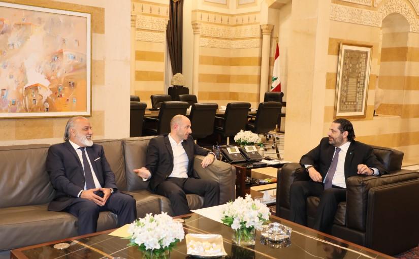 Pr Minister Saad Hariri meets Minister Fady Greyssaty