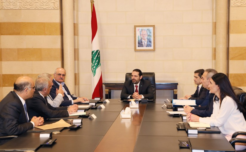 Pr Minister Saad Hariri meets Minister Hassan El Khalil with a Delegation