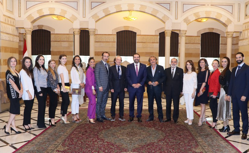 Pr Minister Saad Hariri meets Mr Abdel Halim Karakala with a Delegation