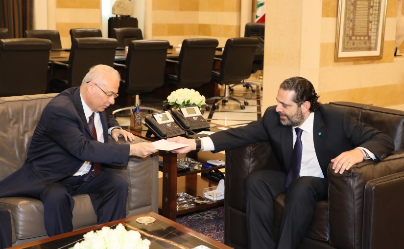 Pr Minister Saad Hariri meets Mr Ali Assaf with a Delegation