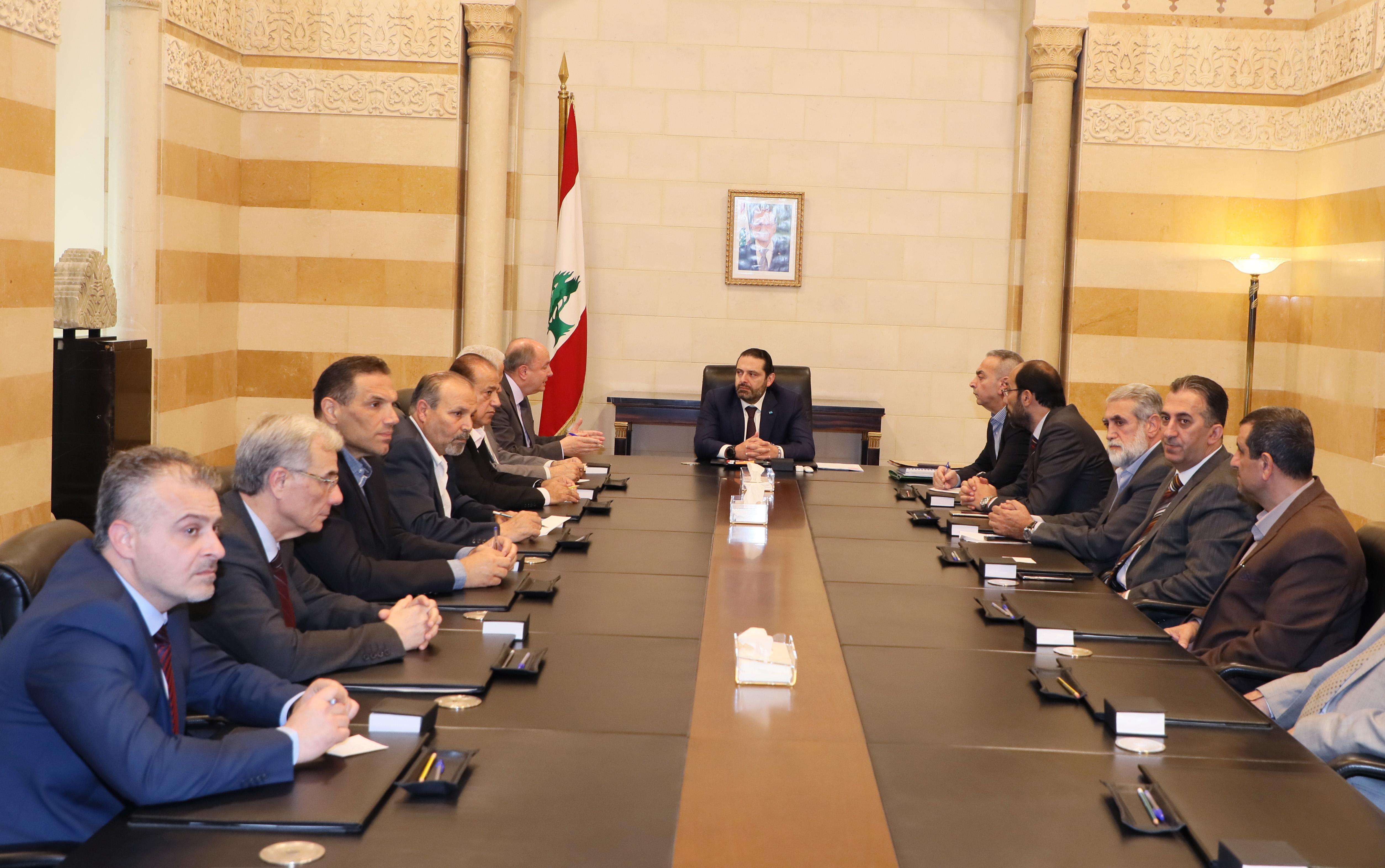 Pr Minister Saad Hariri meets Mr Bechare el Asmar with a Delegation 1