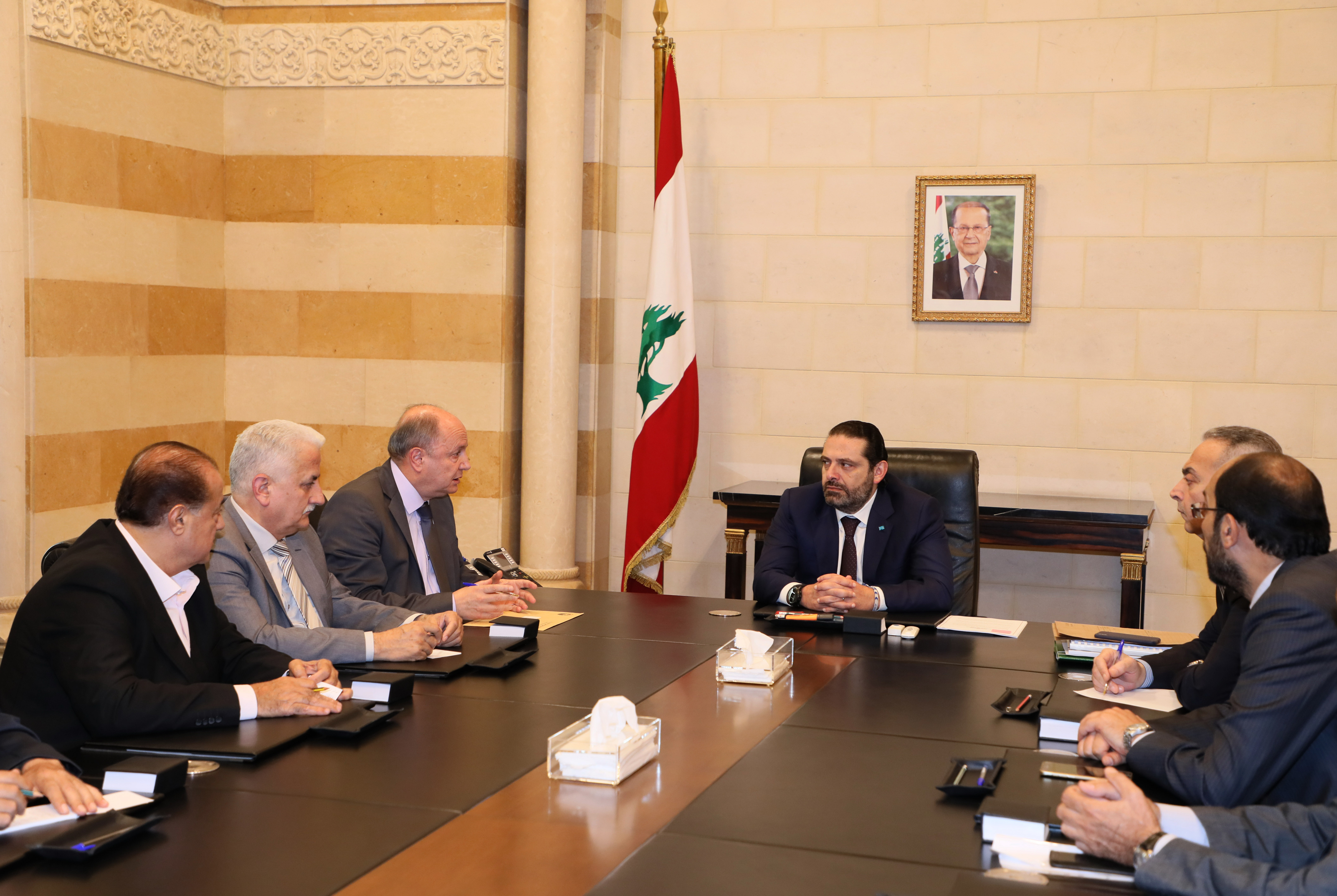 Pr Minister Saad Hariri meets Mr Bechare el Asmar with a Delegation