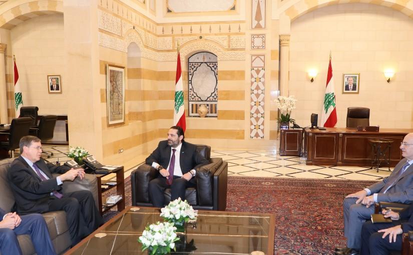 Pr Minister Saad Hariri meets US Assistant Secretary of State for Near Eastern Affairs Mr David Satterfield