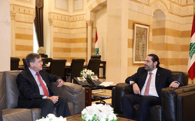 Pr Minister Saad Hariri meets Mr David Saterfield