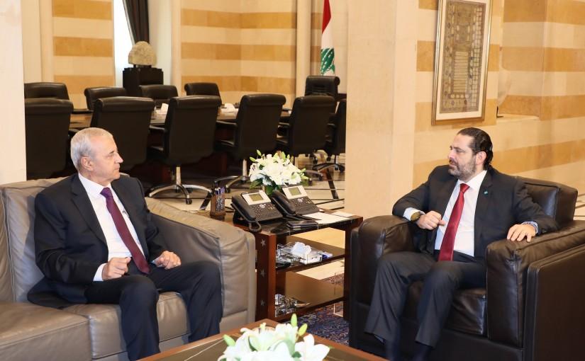 Pr Minister Saad Hariri meets Mr Ibrahim Babouss
