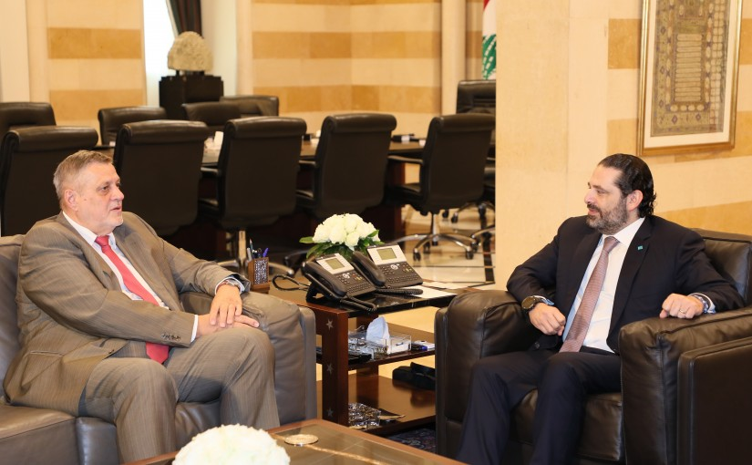 Pr Minister Saad Hariri meets Mr Jean Kobiss