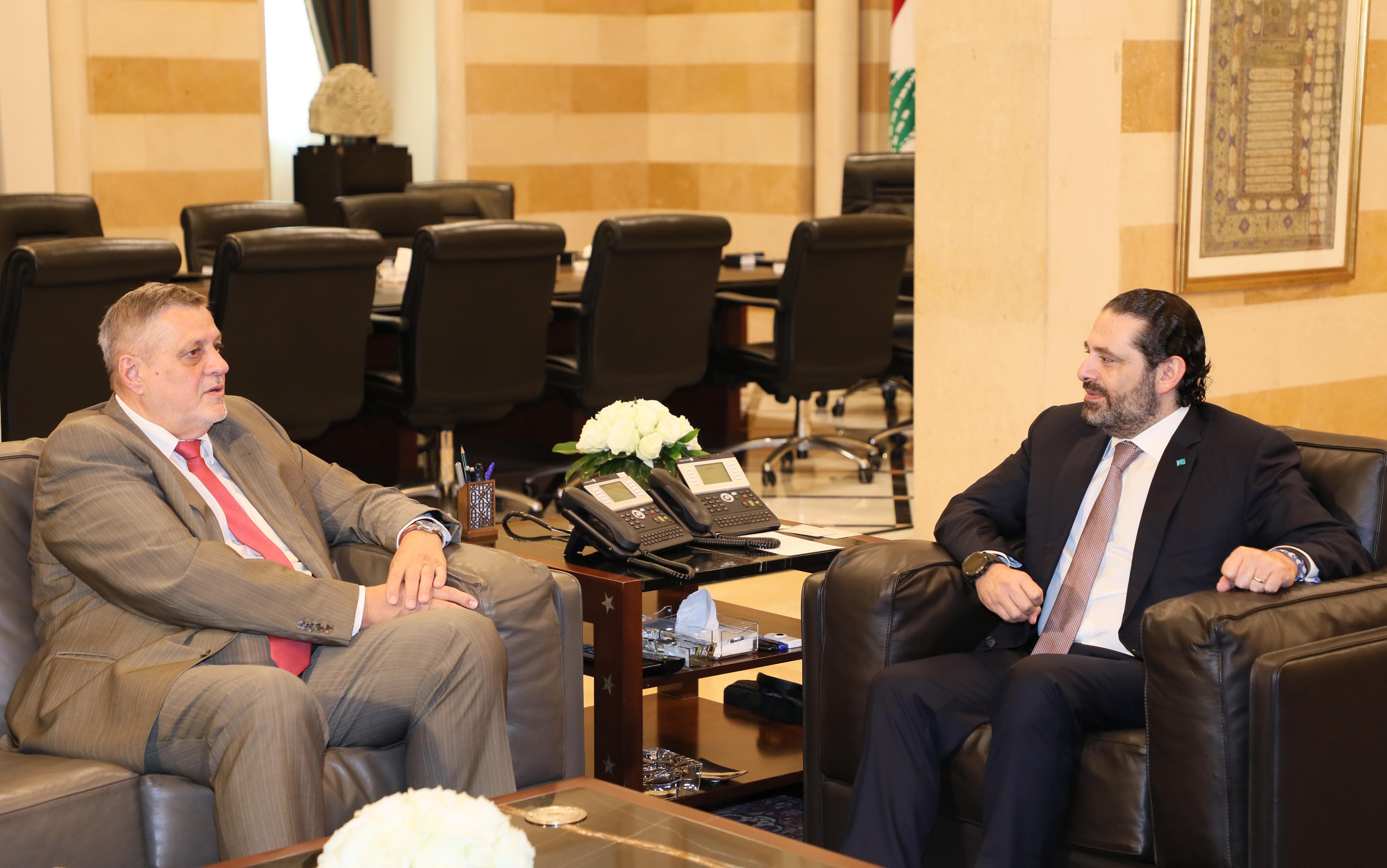 Pr Minister Saad Hariri meets Mr Jean Kobiss 1