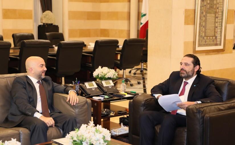 Pr Minister Saad Hariri meets Mr Walid Moussa
