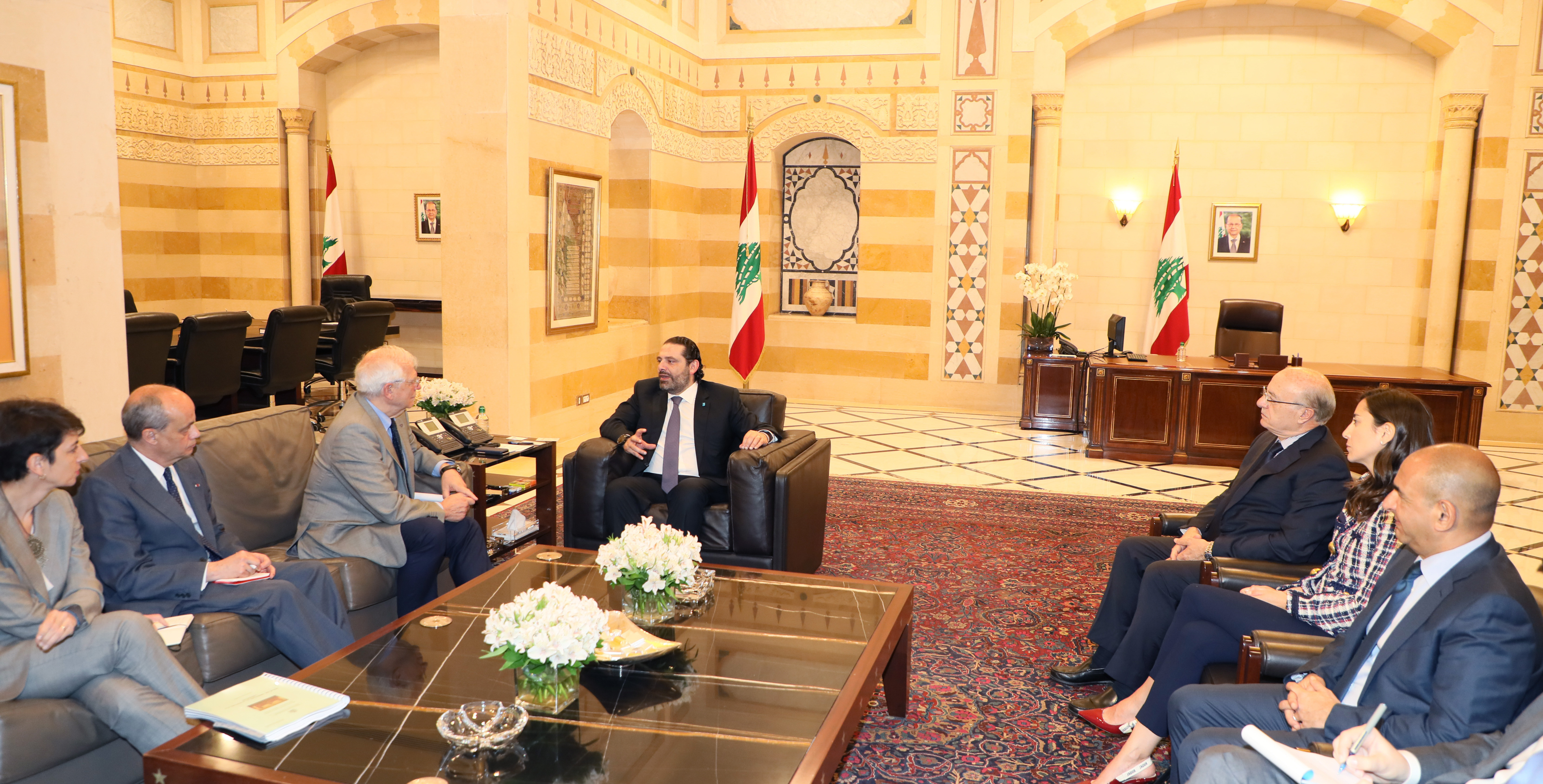 Pr Minister Saad Hariri meets Spanich Minister of Foreign Affairs 1