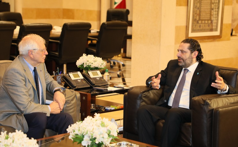 Pr Minister Saad Hariri meets Spanich Minister of Foreign Affairs