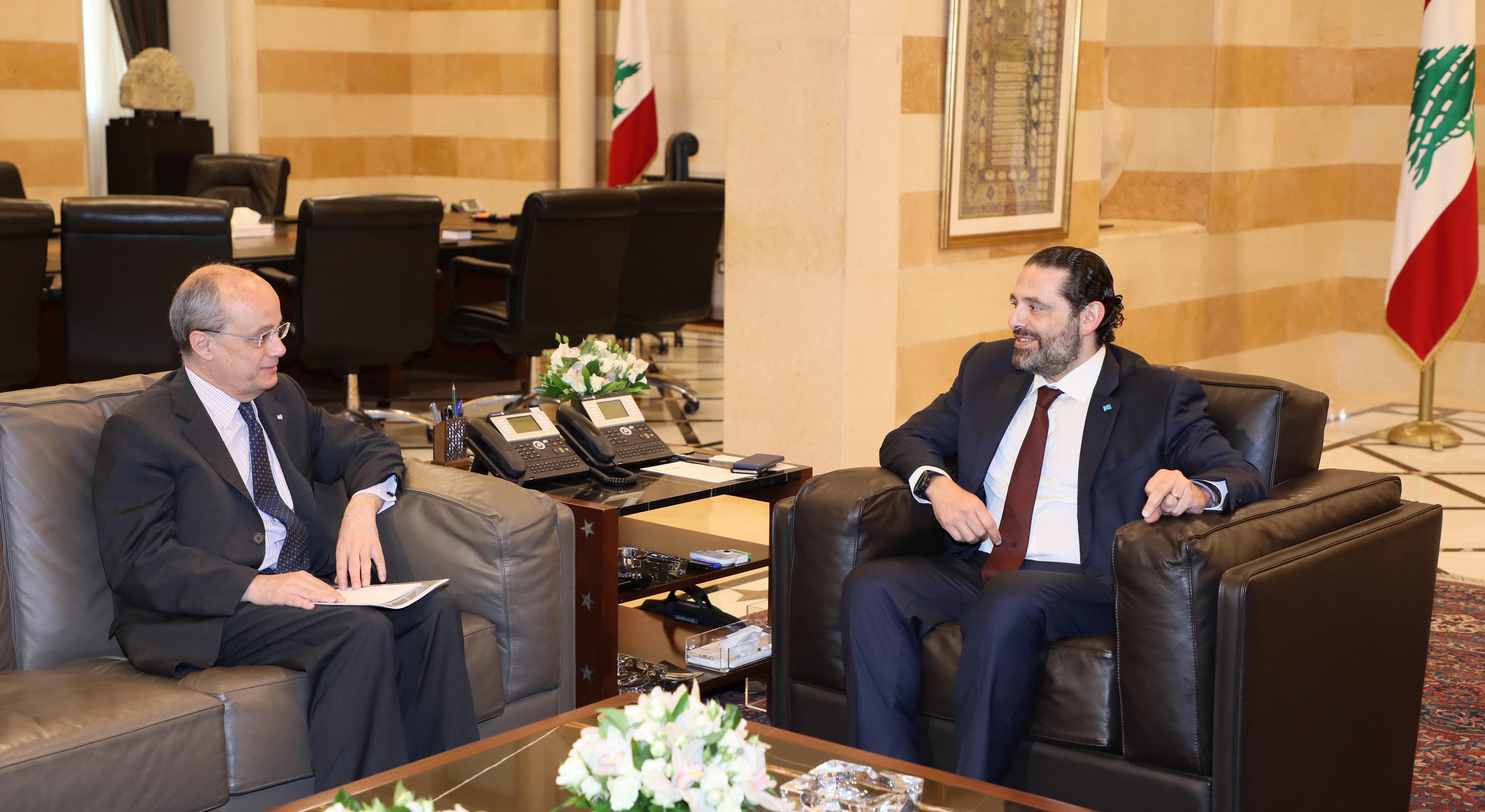 Pr Minister Saad Hariri meets Spanish Ambassador
