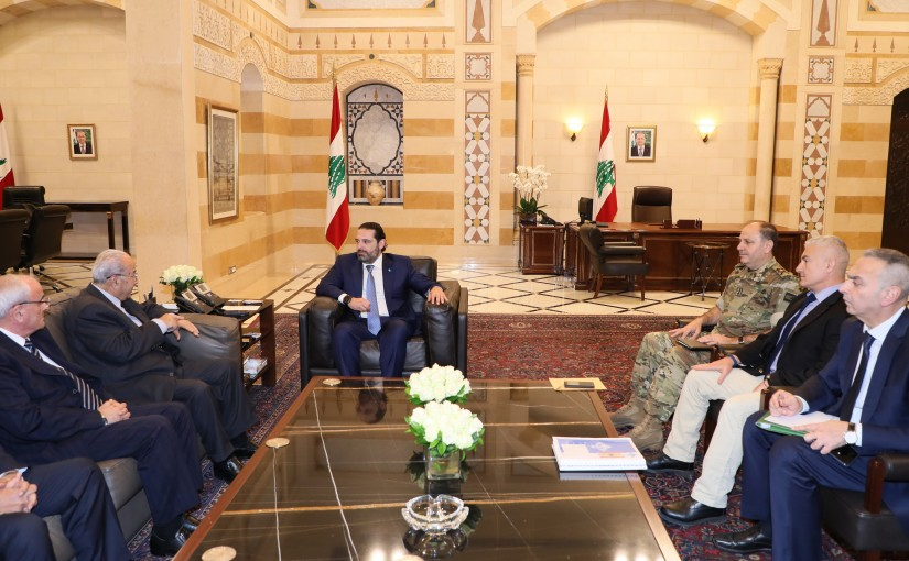 Pr Minister Saad Hariri meets a Deelgation from Association of Veterans of the Armed Forces