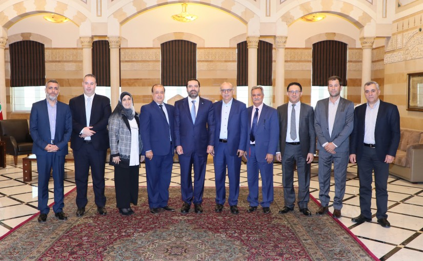 Pr Minister Saad Hariri meets a Delegation from Regie Employees