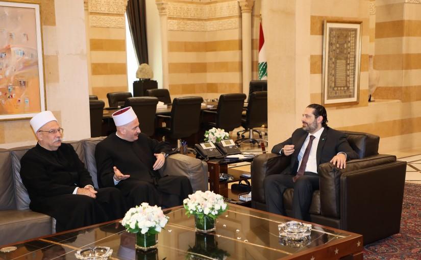 Pr Minister Saad Hariri meets a Delegation from Druze