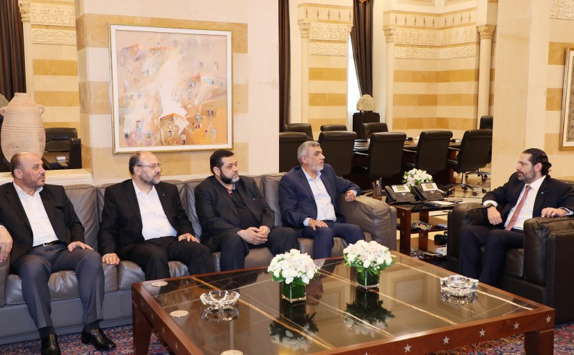 Pr Minister Saad Hariri meets a Delegation from Hamass Party