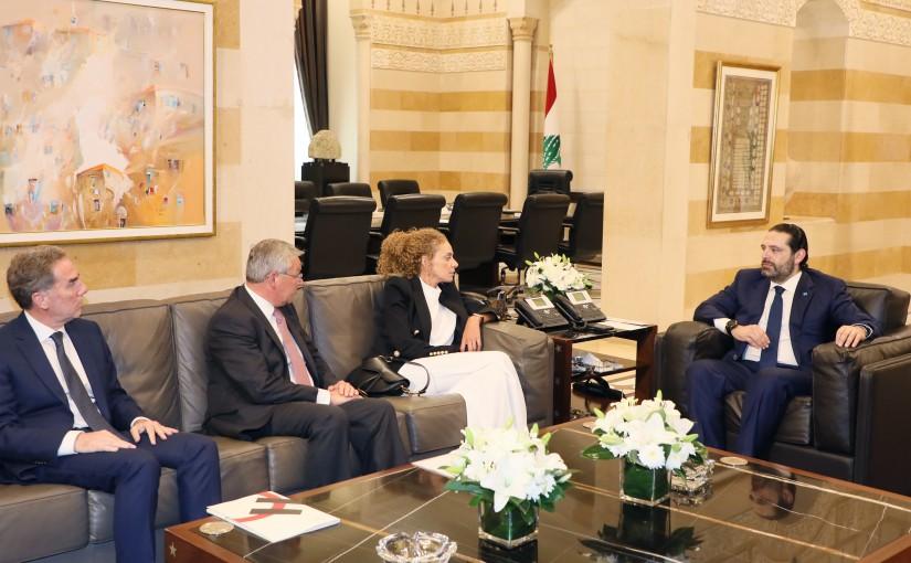 Pr Minister Saad Hariri meets a Delegation from Holcim Lebanon
