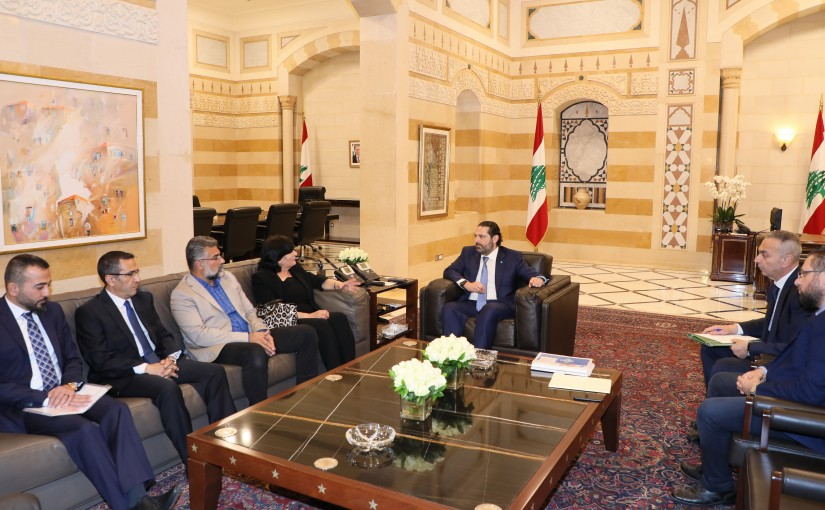 Pr Minister Saad Hariri meets a Delegation from Lebanese Employess Association