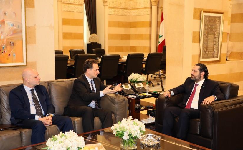 Pr Minister Saad Hariri meets a Delegation from UNERWA