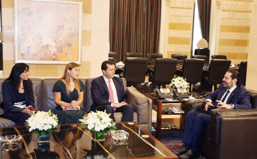 Pr Minister Saad Hariri meets a Delegation from USJ