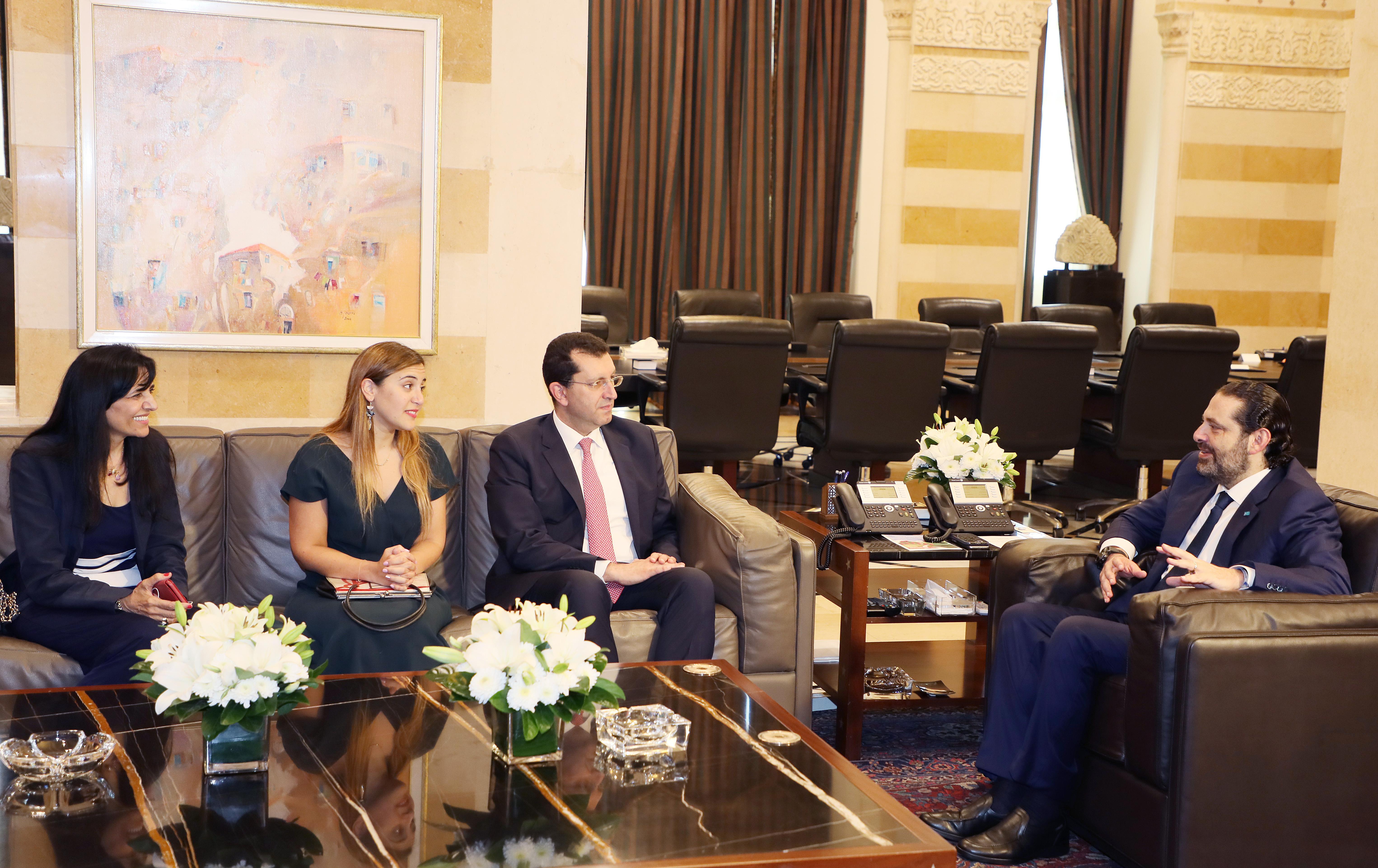 Pr Minister Saad Hariri meets a Delegation from USJ
