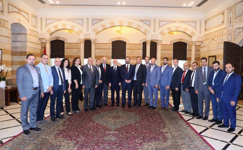 Pr Minister Saad Hariri meets a Delegation from YASA