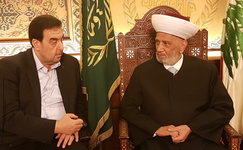 Grand Mufti Abdel Latif Derian Meets MP Walid Baarini