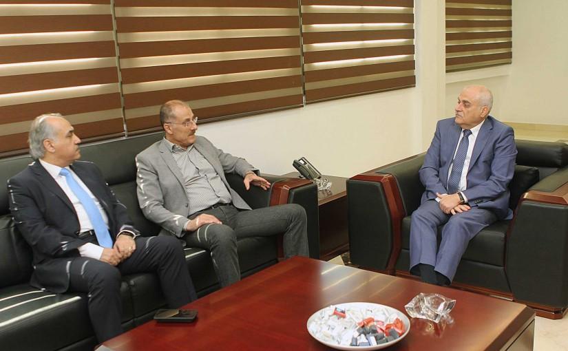 Minister Jamil Jabak meets MP Hady Abou el Hassan