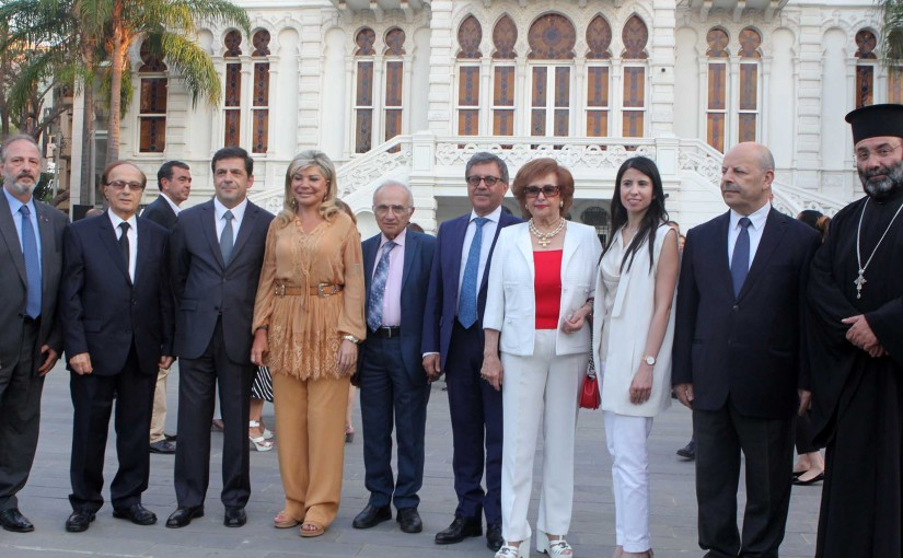 "Ceremony honoring the daughter of Gemmayzeh, Minister of State for Administrative Development, Dr. Mai Chidiac, at the invitation of the Association ""Enma Gemayze – ADG"", in the garden of the Sursak Museum"