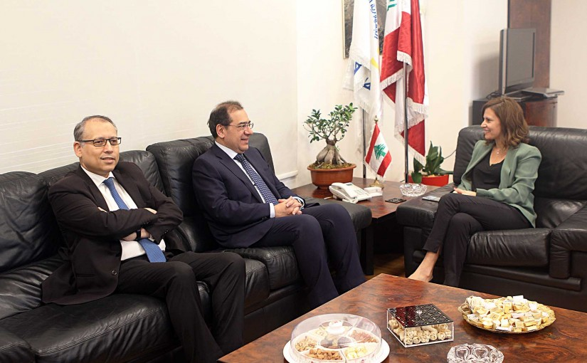 Minister Nada Boustani meets Egyptian Minister of Electricity