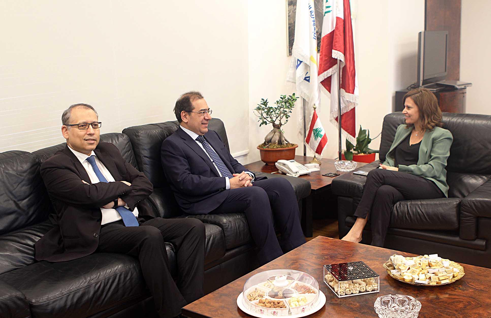 وزيرة الطاقة بستاني و وزير الطاقة المصري - 1
