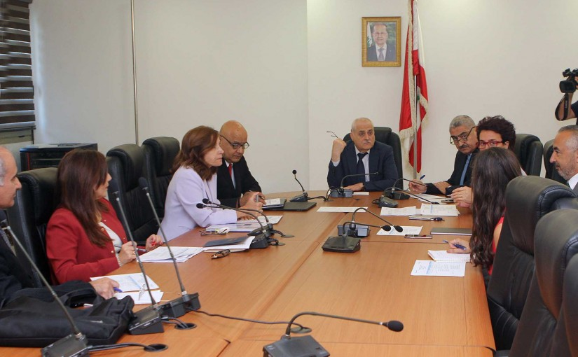 Minister Jamil Jabak meets a Delegation from World Bank