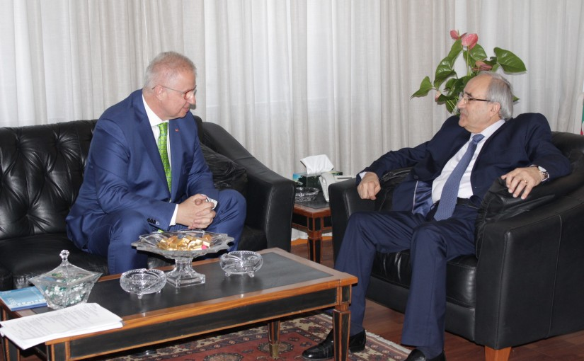 Minister Albert Serhan meets Hungarian Minister of Justice Laszlo Trocsany