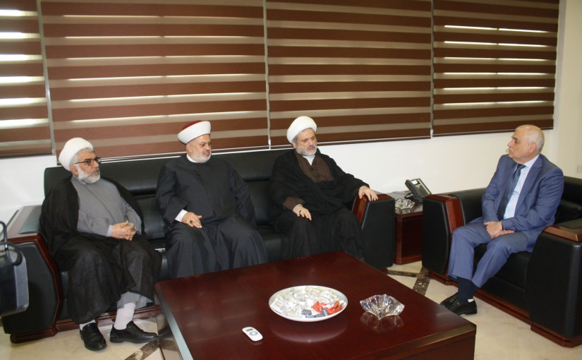 Minister Mohamad Jabak Meets a Delegation From Muslims Scholars