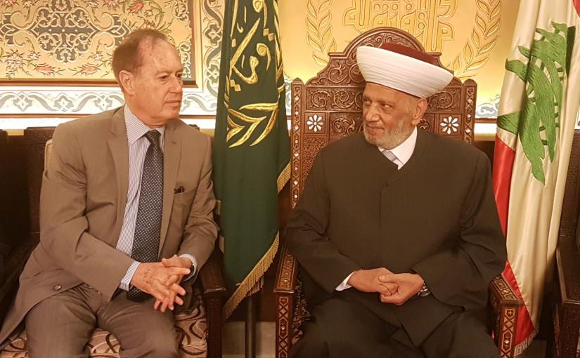 Mufti Abdel Latif Derian Meets Ambassador of Malta