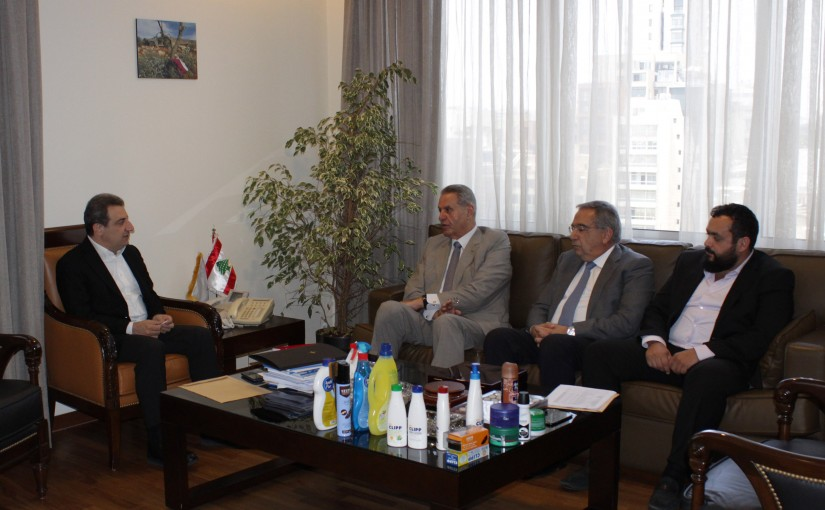 Minister Wael Abou Faour Meets a Delegation From The Cosmetic industry Syndicate