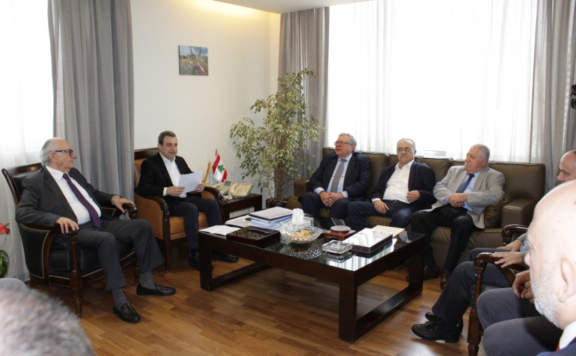 Minister Wael Abou Faour Meets a Delegation of Industrialists Association
