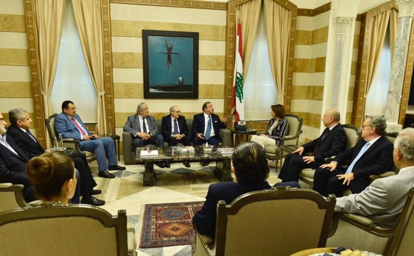 Minister Raya El Hassan Meets Mr Aoun El Kaaki