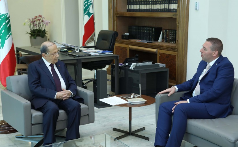 President Michel Aoun Meets MP at The Sweden Parliament From Lebanese Origin Roger Haddad