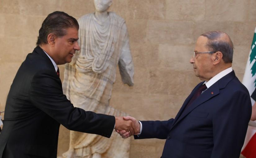 President Michel Aoun Meets Brazilian Senate Nilson Trad Filho